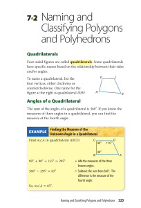 7•2 Naming and Classifying Polygons and Polyhedrons