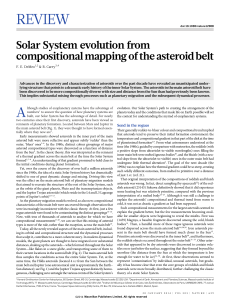 Solar System evolution from compositional mapping of the asteroid