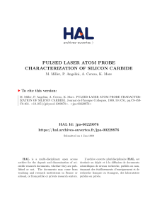 pulsed laser atom probe characterization of silicon carbide