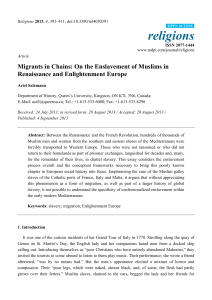 Migrants in Chains: On the Enslavement of Muslims in