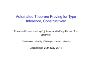 Certified Automated Theorem Proving for Type Inference.