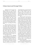 Citizen Genet and Foreign Policy