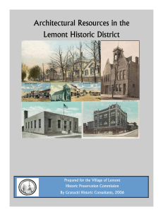 Architectural Resources in the Lemont Historic
