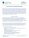 Monitoring Your Communication Style