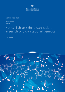Honey, I shrunk the organization: in search of