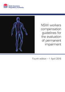 NSW workers compensation guidelines for the evaluation