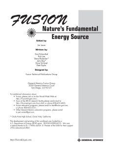 Fusion Video Workbook.Final - General Atomics Fusion Education