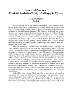 Same Old Penelope: Feminist Analysis of Molly`s Soliloquy in Ulysses