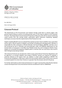 PRESS RELEASE - Government of Gibraltar
