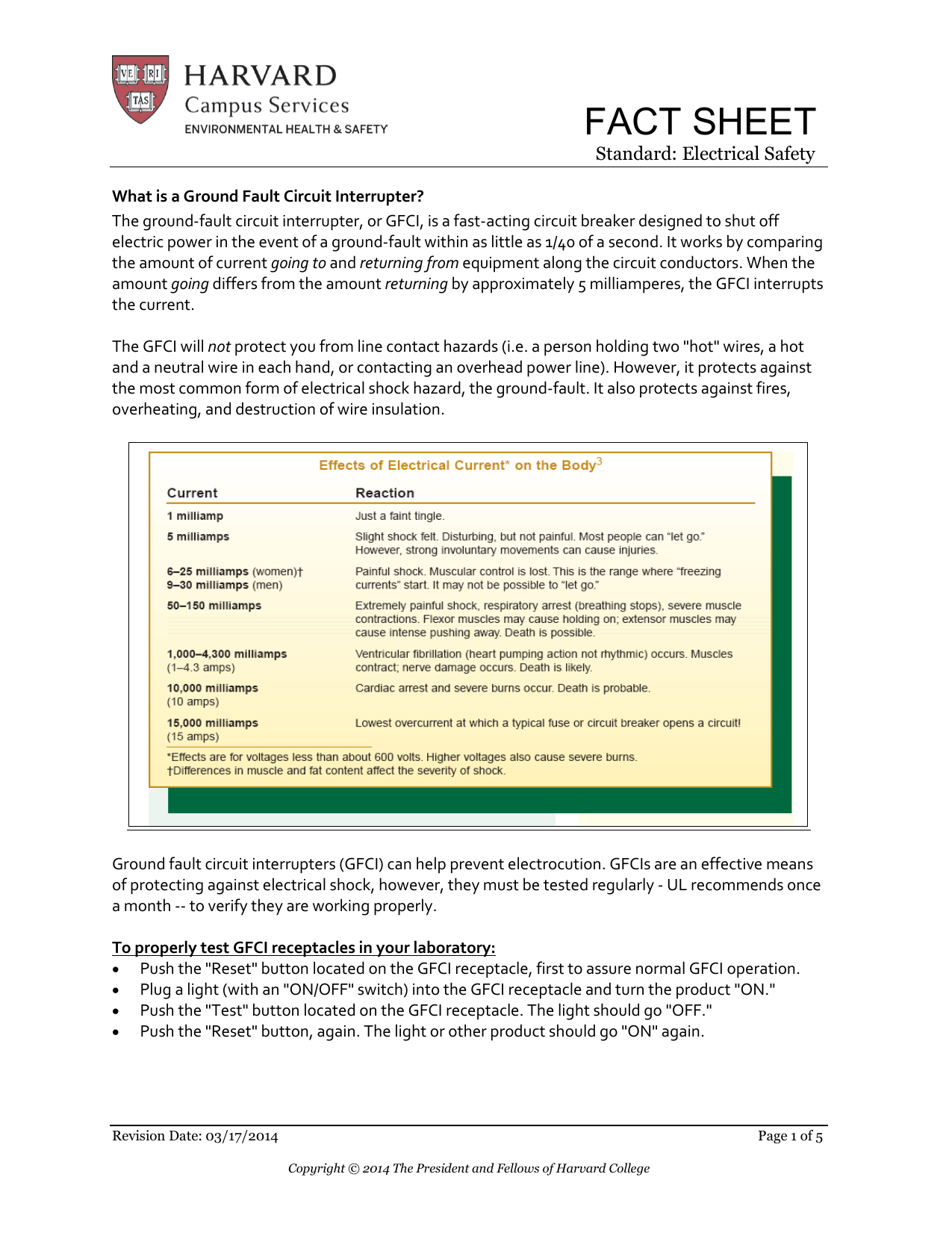 Ground Fault Circuit Interrupter Gfci Fact Sheet Bined Arc And On Wiring With