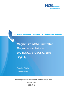 Magnetism of 3d Frustrated Magnetic Insulators - Helmholtz