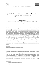 Qur`ānic Commentators on Jewish and Zoroastrian Approaches to