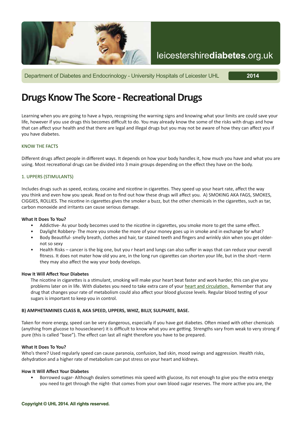 Drugs Know The Score - Recreational Drugs