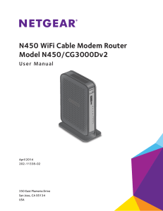 N450 WiFi Cable Modem Router N450/CG2000Dv2 User Manual