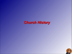 The Early Middle Ages - First Covenant Church
