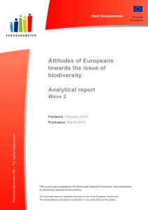 Attitudes of Europeans towards the issue of biodiversity Analytical