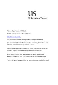 Coversheet for Thesis in Sussex Research Online