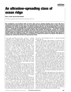 An ultraslow-spreading class of ocean ridge