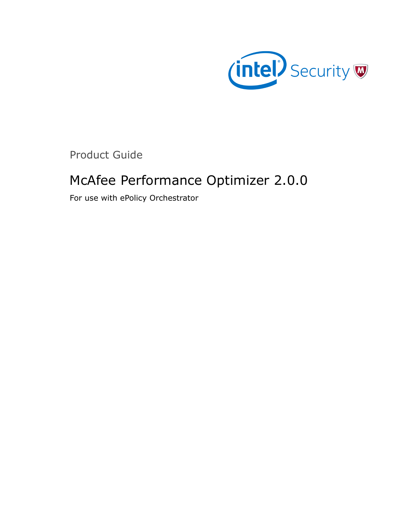 Performance Optimizer 2 0 0 Product Guide