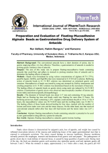 Full Text PDF - International Journal of ChemTech Research