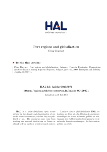 Port regions and globalization - Hal-SHS