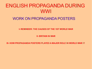 ENGLISH PROPAGANDA DURING WWI