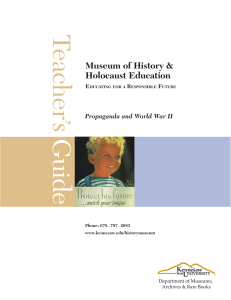 Grade 8-12 - Museum of History and Holocaust Education