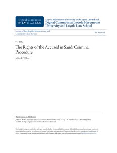 The Rights of the Accused in Saudi Criminal Procedure