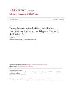 Taking Liberties with the First Amendment: Congress, Section 5, and