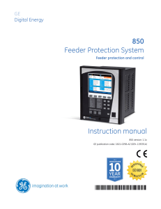 Instruction manual 850 Feeder Protection System