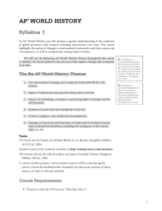 ap® world history - AP Central