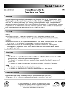 Lesson Plan - Kansas Historical Society