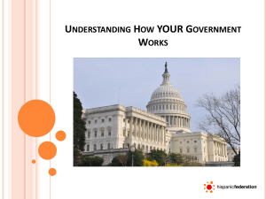 UNDERSTANDING HOW YOUR GOVERNMENT WORKS