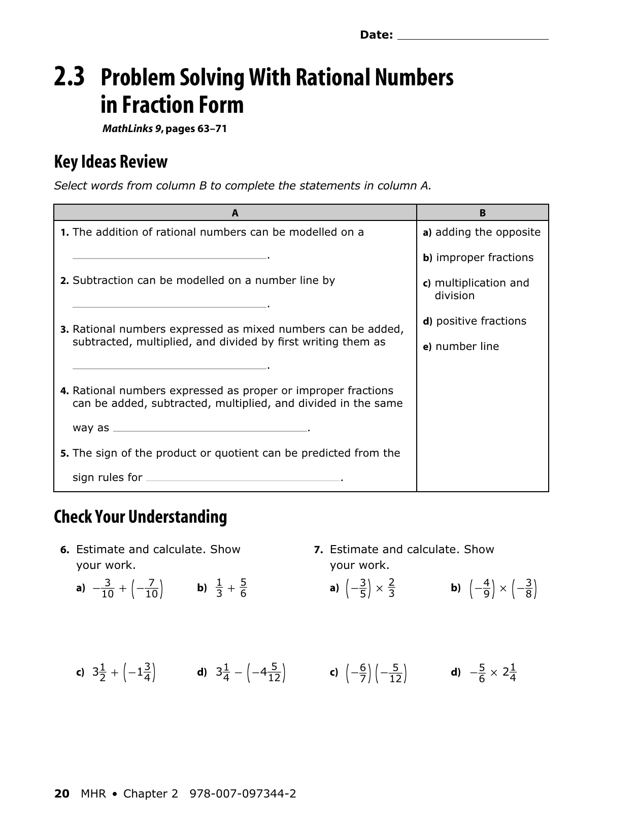 29f752cbfc87 grading Array - 2 3 problem solving with rational numbers in fraction form  rh studyres com