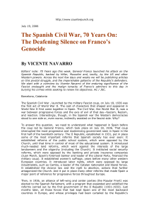 The Spanish Civil War, 70 Years On