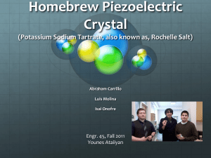 Homebrew Piezoelectric Crystal