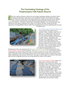 The Fascinating Geology of the Phophonyane Falls Nature Reserve