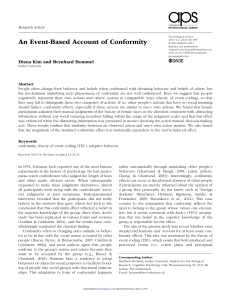 An Event-Based Account of Conformity