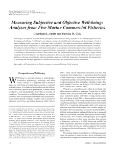 measuring Subjective and Objective Well-being