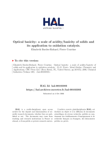 Optical basicity - Archives ouvertes HAL Artois