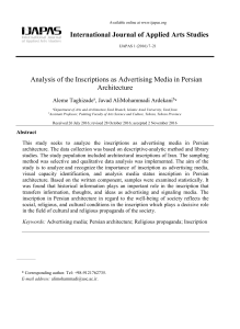 this PDF file - International Journal of Applied Arts