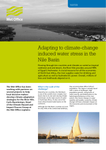 Adapting to climate-change induced water stress in the Nile Basin