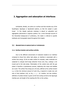 Aggregation and Adsorption at Interfaces