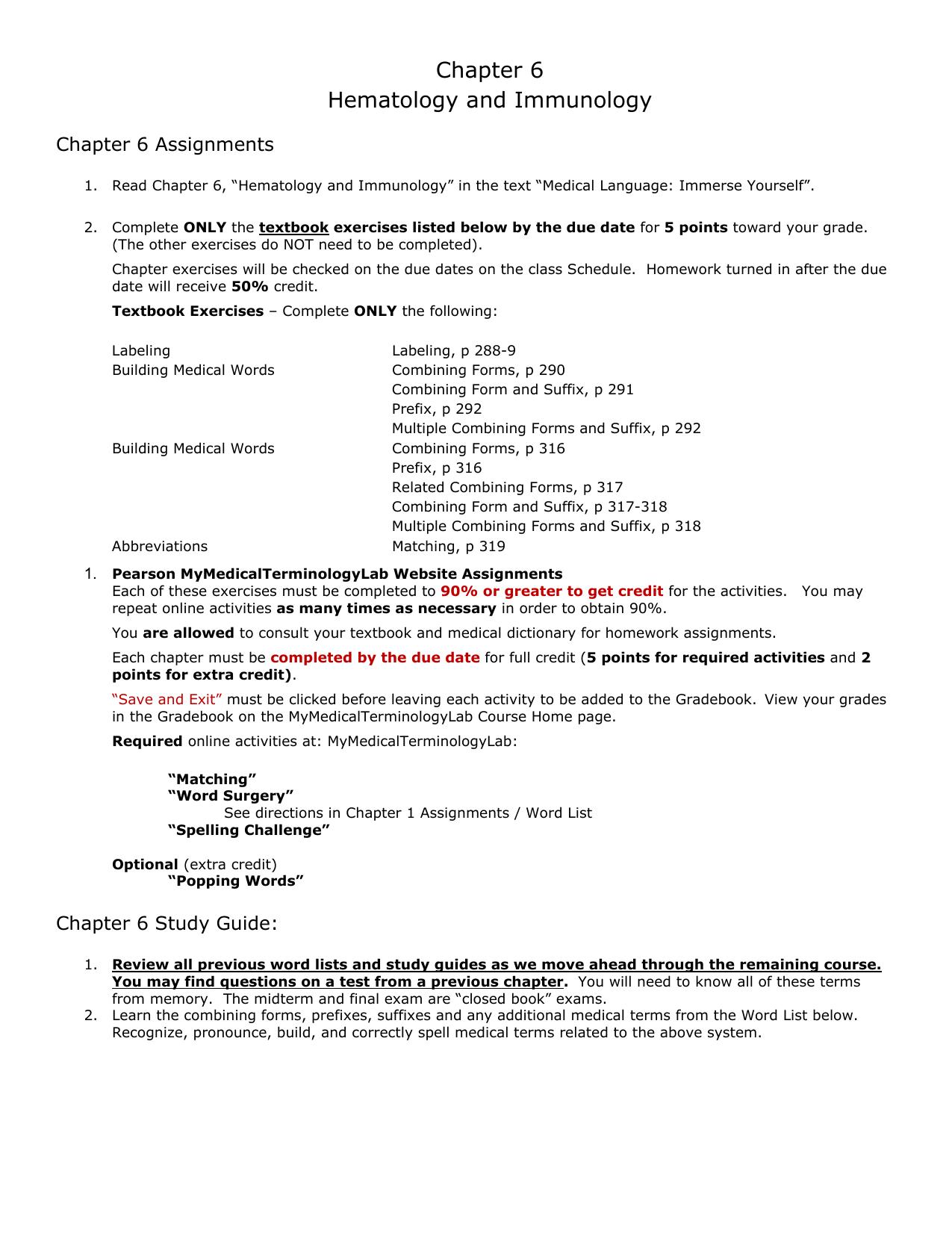 Chapter 6 Hematology and Immunology