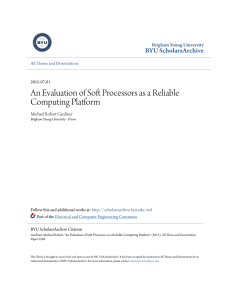 An Evaluation of Soft Processors as a Reliable Computing Platform