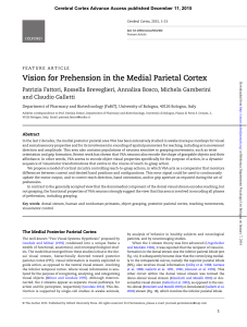 Vision for Prehension in the Medial Parietal Cortex - Gallettilab