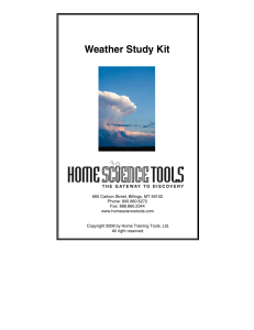 Weather Study Kit - Home Science Tools