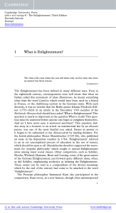 1 What is Enlightenment? - Assets