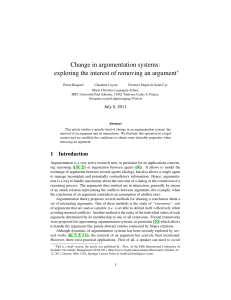 Change in argumentation systems: exploring the interest of
