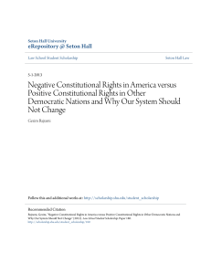 Negative Constitutional Rights in America versus Positive